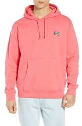Obey All Eyez Appliqued Hooded Sweatshirt Coral Pink