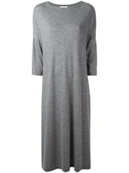 Barrie Knitted Midi Dress Grey