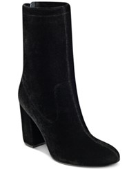 Guess Women's Amary Booties Women's Shoes Black Velvet