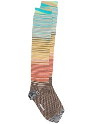 Missoni Striped Knitted Socks Neutrals