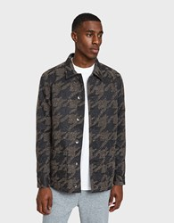 Native Youth Lynx Jacket In Charcoal Brown Charcoal Brown