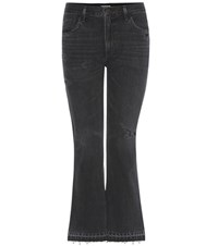 Citizens Of Humanity Sasha Twist Flare Crop Cotton Jeans Black