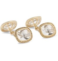 Trianon 18 Karat Gold Quartz Cufflinks