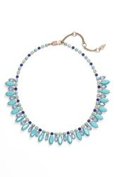 Women's Kent And King Crystal Collar Necklace Green Blue