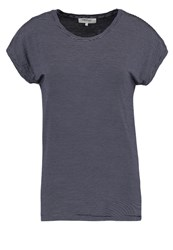 Zalando Essentials Print Tshirt Navy White Dark Blue