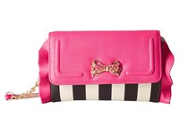 Betsey Johnson Flouncin' Around Flap Wallet On A String Stripe Wallet Handbags Multi
