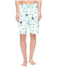 Jockey Printed Bermuda Shorts Butterfly Display Women's Pajama White