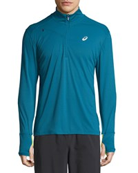 Asics Favorite Half Zip Performance Jacket Deep Sea