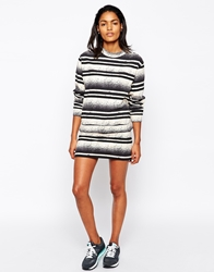 Won Hundred Mini Skirt In Abstract Stripe Multi