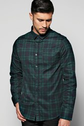 Boohoo Check Long Sleeve Shirt Green