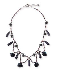 Lulu Frost Rose Crystal Statement Necklace Multi