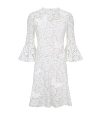 Valentino Butterfly Lace Dress Female White