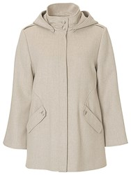 Betty Barclay A Line Hooded Jacket Nature Grey