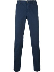 Incotex Slim Fit Twill Chinos Blue
