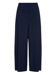 Proenza Schouler Checked Wide Leg Crepe Trousers