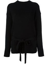 Joseph Crew Neck Jumper Black