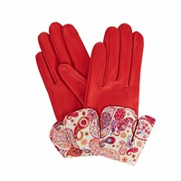 Gizelle Renee Palesa Red Leather Gloves With Md Liberty Tana Lawn