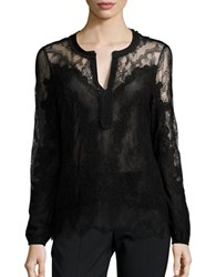 Kobi Halperin Lyla Embellished Long Sleeve Blouse Black