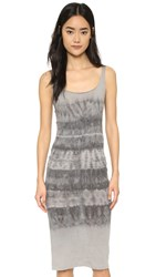 Raquel Allegra Layering Tank Dress Grey Tie Dye