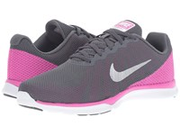 Nike In Season Tr 6 Dark Grey Metallic Platinum Force Pink Clear Grey Women's Cross Training Shoes Gray