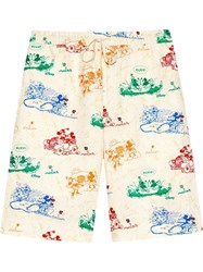 Gucci X Disney Mickey Mouse And Minnie Print Shorts 60