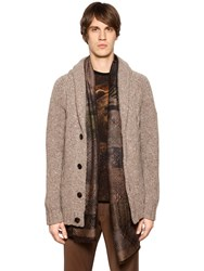 Etro Wool And Cashmere Cable Knit Cardigan