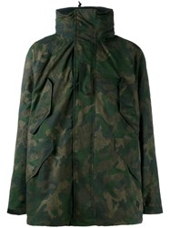 Rag And Bone Camouflage Parka Coat Green