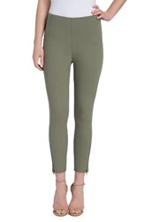 Lysse Women's Soho Canvas High Rise Crop Leggings Ivy