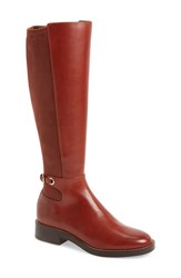Cole Haan Parker Grand Stretch Knee High Boot Cherry Mahogany Leather