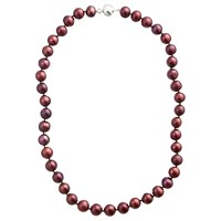 A B Davis River Pearl Magentic Clasp Necklace Claret