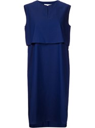 Astraet Two Piece Effect Dress Blue
