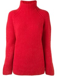 Iris Von Arnim Polo Jumper Women Cashmere L Red