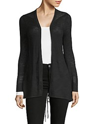 August Silk Lace Up Back Cardigan Black