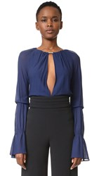 Jay Ahr Blouse Astral Blue Silver