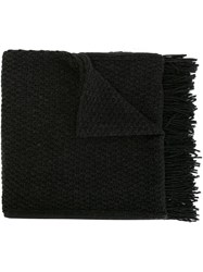 Golden Goose Deluxe Brand Fringed Knit Scarf Grey