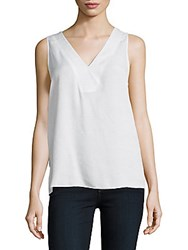 Nydj Dobby Novelty Tank Top Optic White