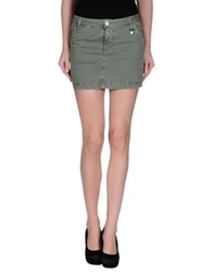 Roy Rogers Roy Roger's Choice Denim Skirts Military Green