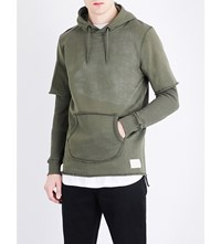 Criminal Damage Orda Cotton Jersey Hoody Khaki