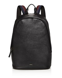 Paul Smith Leather Backpack Black