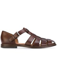 Church's Fisherman Spider Sandals Men Calf Leather Leather 9 Brown