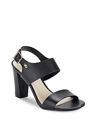 Cole Haan Octavia Open Toe Leather Sandals Black