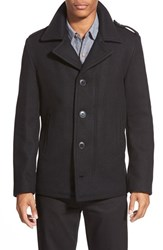 Men's Schott Nyc Slim Fit Wool Military Jacket