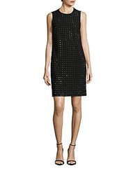 Calvin Klein Sleeveless Dotted Sparkle Shift Dress Black