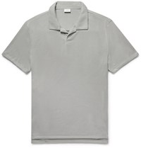 Onia Shaun Slim Fit Loopback Jersey Polo Shirt Gray