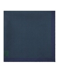 Reiss Walker Houndstooth Pocket Square In Emerald