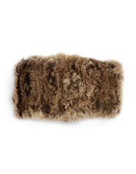 Surell Rabbit Fur Headband Brown