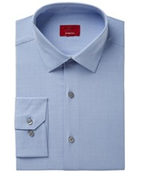 Alfani Men's Slim Fit Performance Stretch Easy Care Pattern Dress Shirt Created For Macy's Blue
