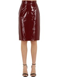 N 21 Silk And Vinyl Pencil Skirt Bordeaux