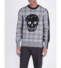 Alexander Mcqueen Skull Wool And Cashmere Blend Jumper Grey