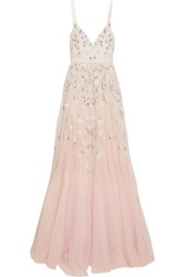 Needle And Thread Embellished Embroidered Tulle Gown Pastel Pink